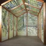 Liberty house, 2011, H256x210x260cm, inchiostro e intagli su carta