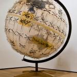 Revolution Globe, 2011, 170x170x200cm, acrilico e intagli su carta