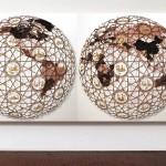 World Spring, 2012, H180x360cm x10cm, acrilico e carta intagliata su tela