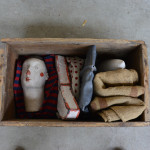 Fabrizio-Milani,-Teatro-Ludico-I-,-Ceramic,-wood,-fabric,-jute-and-silicon-stripe-curtain-(2016)